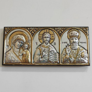 Ікона Богородиця Казанська-Спаситель-Св. Миколай