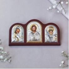 Триптих зі Спасителем, Богородицею Володимирською та Святим Миколаєм