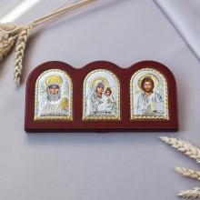 Триптих со Спасителем, Богородицей Иерусалимской и Святым Николаем