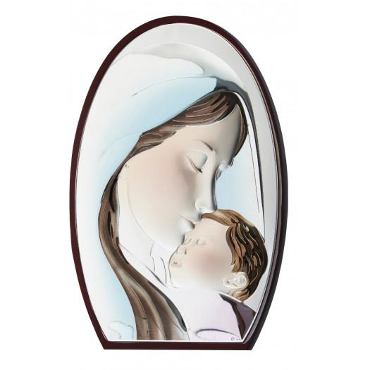 Католицька ікона Діва Марія з Немовлям кольорова