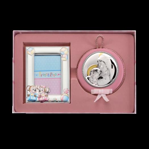 Дитячий набір Марія з немовлям та рамочкою два Мишиняти для дівчинки