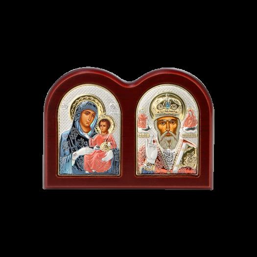Диптих Богородиця Єрусалимська та Святий Миколай