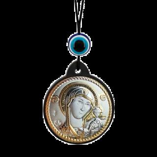 Икона Казанская брелок на шнурке
