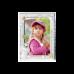 Рамка зі срібла для дівчинки Зайченятко, рожева