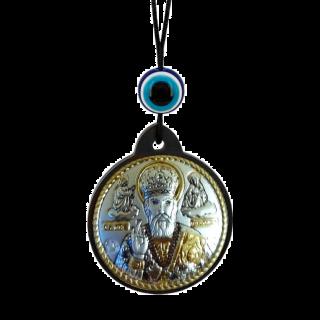 Икона брелок Святой Николай на шнурке