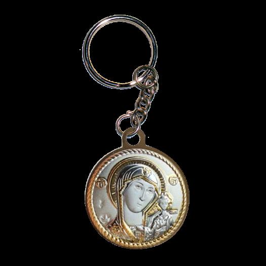 Ікона Богородиця Казанська на металевому брелоку
