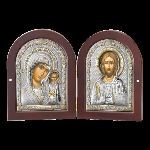 Диптих з Казанською Божою Матір'ю та Спасителем