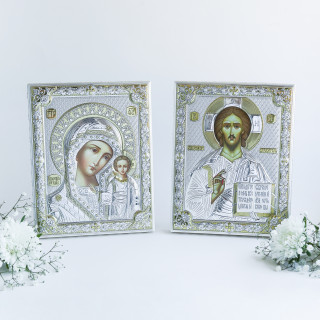 Венчальная пара Спаситель и Богородица